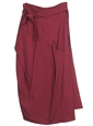 Marie Meunier Veinnoise Wrap Skirt in Burgundy