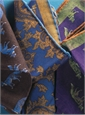 Wool Reversible Fox and Paisley Printed Pocket Square