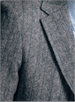 Grey Broken Bone Lambswool Sport Coat with Teal Striping