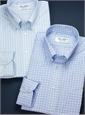 Dusty Blue and Beige Herringbone Harris Tweed Sport Coat