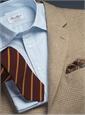 Cream and Straw Glen Plaid Wool Sport Coat