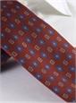 Silk Neat Motif Tie in Cranberry