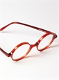 Silver Line Round Frame in Red
