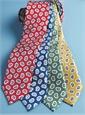 Silk Print Paisley Tie in Red