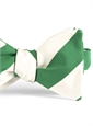 Mogador Silk Stripe Bow in Malachite