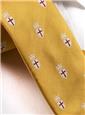 Silk Woven Crest Tie in Marigold