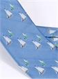 Jacquard Woven Sailboat Tie in Sky
