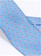 Flamingo Printed Tie in Marine