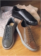 Geox Leather Sneakers in Cognac