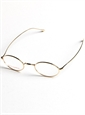 Oval Wire Frames in Yellow Gold