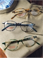 Lafont Semi-Square Frame in Tortoise with Green
