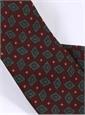 Wool Diamond Printed Tie in Burgundy