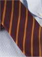 Mogador Bar Stripe Tie in Wine