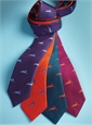 Jacquard Woven Hare Motif Tie in Violet