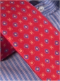 Silk Print Diamond and Square Motif Tie in Fire