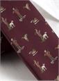 Silk Woven Hunting Tie in Maroon