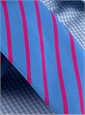 Mogador Bar Stripe Tie in Cobalt