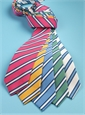 Mogador Striped Tie in White