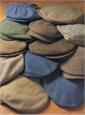 Wool Aberford Brown Herringbone Cap