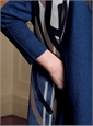 Ladies Cashmere Asymmetric Sweater in Denim