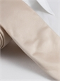 Woven Silk Solid Tie in Ivory
