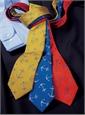 Silk Woven Anchor Tie in Sun