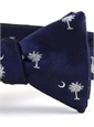 BJ32- Palmetto and Moon in Blue and Silver