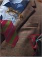 Silk Multi-Stripe Tie in Field and Marine