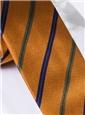 Silk Stripe Tie in Gold