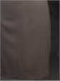 Ladies Gabardine Skirt Brown