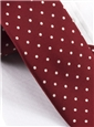 Silk Print Dot Motif Tie in Brick