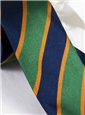Silk Block Stripe Tie in Kelly and Navy