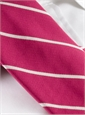Mogador Thin Bar Stripe Tie in Strawberry
