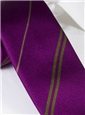 Multi-Stripe Silk Tie in Fuchsia With Olive
