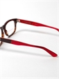 Lafont Rectangular Frame in Tortoise with Red