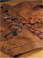 Rectangular Frame in Tortoise with Red
