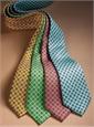 Silk Print Neat Tie in Aqua