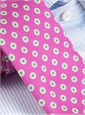 Silk Print Dot Tie in Azalea