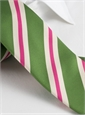 Mogador Silk Stripe Tie in Fern