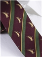 Silk Woven Duck Motif Tie in Wine
