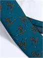 Jacquard Woven Ski Tie in Teal