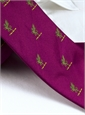 Silk Woven Griffin Motif Tie in Fuchsia