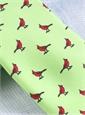 Silk Print Cardinal Motif Tie in Lime