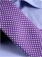 Silk Print Dot Motif Tie in Violet