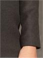 Grey Wool Dress with Zipper Back