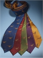 Silk Woven Pheasant Motif Tie in Ruby