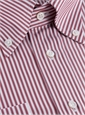 Oxford Red and White Bengal Stripe Shirt
