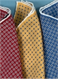 Silk Circle & Square Motif Pocket Squares