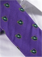 Silk Fanciful Crest Tie in Violet
