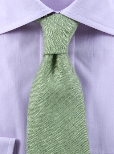 d11d1cd4fbbc Solid Woven Raw Silk Tie in Sage. mouse over the thumbnails for alternate  views. Preload